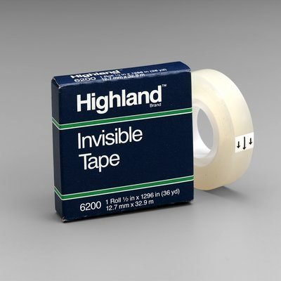 Highland(TM) Invisible Tape 6200, 1/2 in x 1296 in Boxed