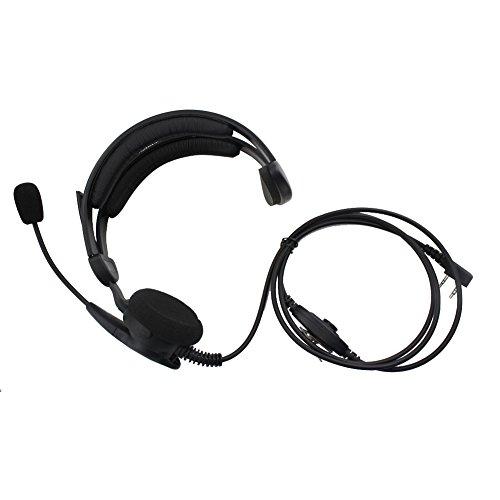 Tenq Advance Adjustable Overhead Earpiece Headset Boom Mic M