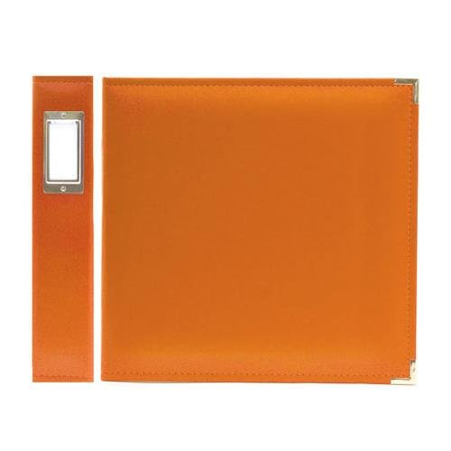 Memory Ring 3 Keepers - We R Memory Keepers Classic Leather 3-Ring Album - 12x12 inch, Orange Soda