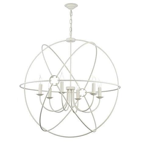 David Hunt orb0633 Orb crema 6 lámpara esfera jaula lámpara de ...