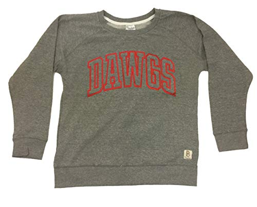 Pressbox UGA Cecelia French Terry Long Sleeve Shirt-Large Heather Grey