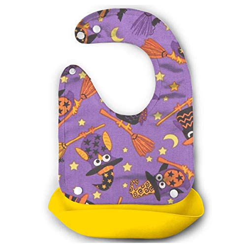 RS-pthrA3!!! Baby Imitation Silicone Stereo Cartoon Owl Saliva Pocket Children Rice Bib Saliva Pocket Washable -