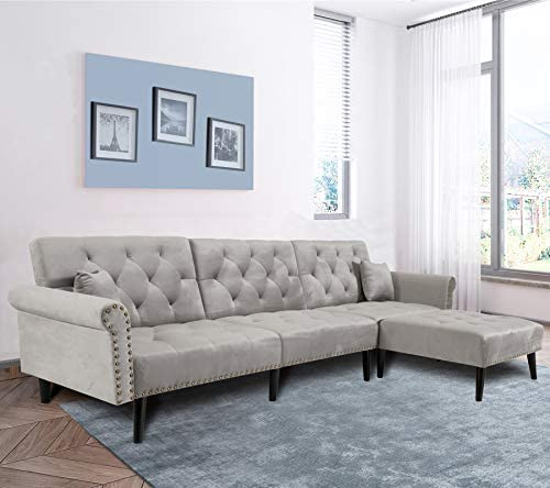 Modern Convertible Sectional Sofa Couch