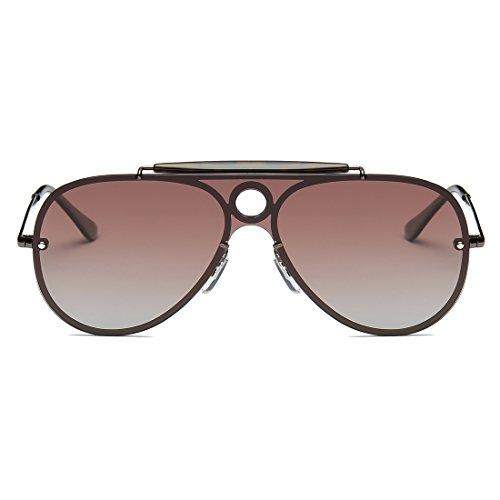 Kimorn Polarizado Gafas De Sol Hombre Estilo Integrado Lente Piloto Anteojos K0584 DhpJgkTtt