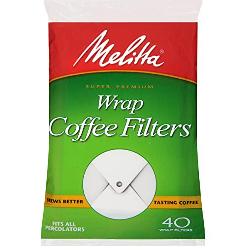 Melitta (627402C) Percolator Wrap Around Coffee Filters, White, 40 Count (Pack of -
