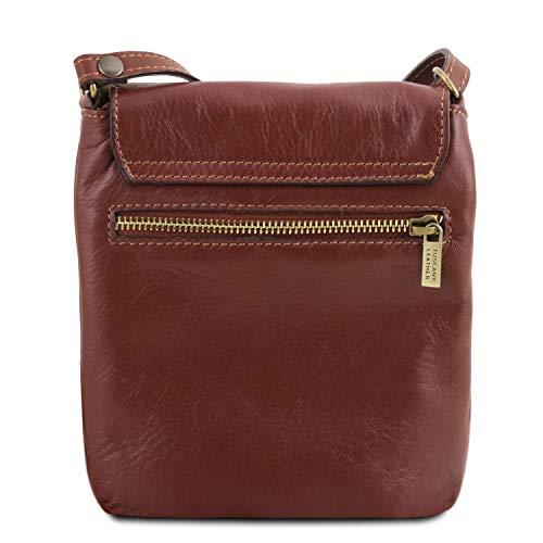 Bolso Rojo Suave Leather Sasha Piel Unisex en Tuscany Cognac PnfqT18nx