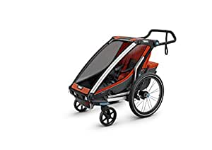 Thule Chariot Cross 1 + Cycle/Stroll Jogging Strollers, Orange/Dark Shadow, One Size