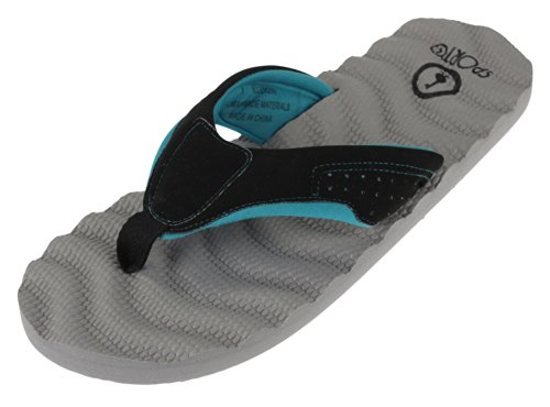Sporto - Sandalias para mujer multicolor - Gray/Black/Teal