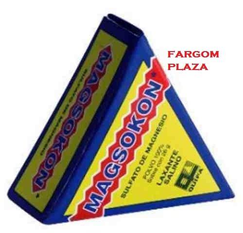 Amazon.com: Magsokon Traingle Powder Box Sal De Higera Sulfato De Magensio Laxante Laxative Constapation 26g: Health & Personal Care