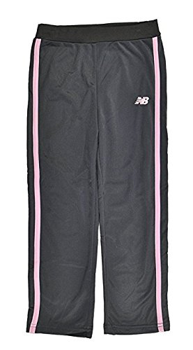 New Balance Little Girls Lace Detailed Hoodie 2pc Track Pant Set Charcoal