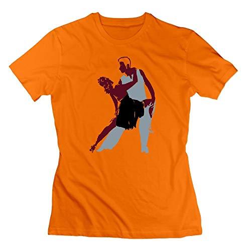 Ritmo T-shirts - Ritmo Latino Womens Tshirts Orange