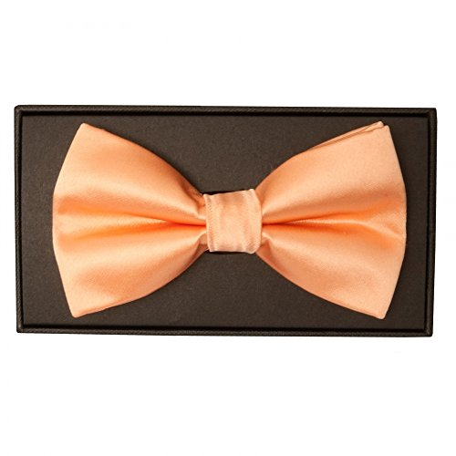 Made Hand Tie Mens Peach TiesRUs Bow 75Hd8q5T