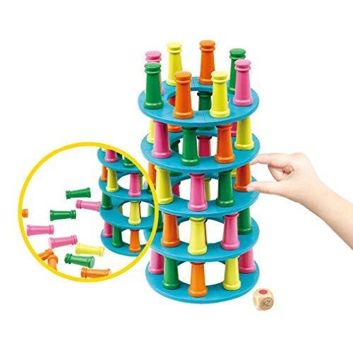 DANNI Balance Column Toys Stacking Kids Building Blocks Desktop Table Toys Children Pizza Tower Collapse Parent-Child - Column Desktop