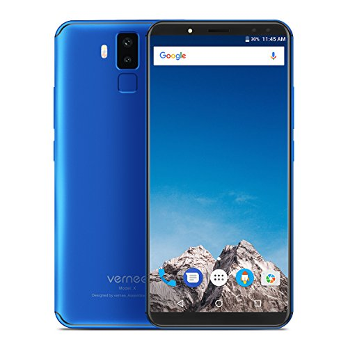 VERNEE X Fashion Mobile Phone Thin Light 5.99 Inch 4+64G 4 Cameras Smart Phone(Blue)