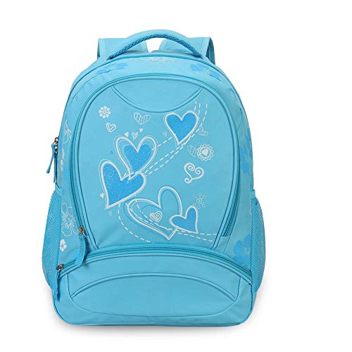 (Hynes Eagle Sweetheart Pattern Backpack Blue)
