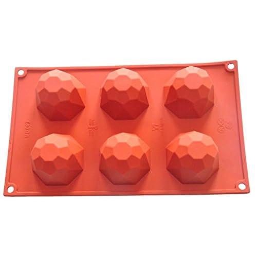 FOUR-C Cupcake Tools Cake Bakeware Diamond Silicone Molds Color Purplish Red