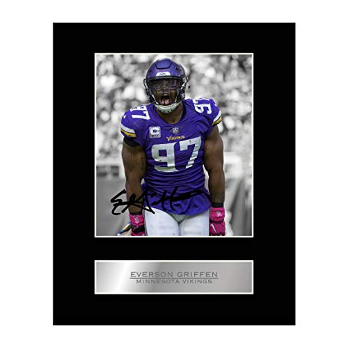 Everson Griffen Signed Mounted Photo Display Minnesota Vikings NFL Autographed Gift Picture Print