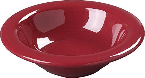 Carlisle 4304258 Durus Rimmed Melamine Fruit Bowl, 4 Oz., Roma Red (Pack of 48) by Carlisle (Image #5)