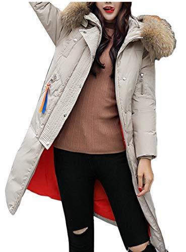 4 Invernale Da Cappuccio Imbottito Caldo Per Cappotto Outwear Con Giacca Lungo Parka Ttyllmao Donna xwFpqAYCO