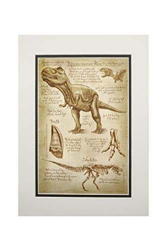 nosaur - Da Vinci Style (11x14 Double-Matted Art Print, Wall Decor Ready to Frame) ()