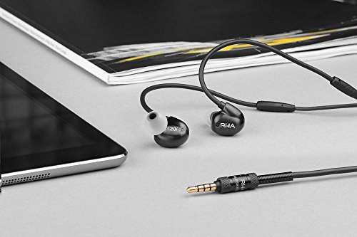 41GlhLw8m3L - RHA T20i in-Ear Monitors (Gen. 2): HiFi Noise Isolating Stainless Steel in-Ear Headphones with Remote & Mic