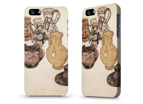 """Hülle / Case / Cover für iPhone 5 und 5s - """"Krüge"""" von Egon Schiele"""