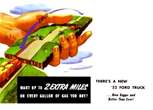 FULL-COLOR 1952 FORD TRUCK & PICKUP DEALERSHIP SALES BROCHURE INCLUDING F-1 Pickup, Courier Custom & Panel, F-2 Express, F-3 Parcel Delivery, F-4 Stake, F-5 & F-6 C..E. Cab-Over, F-7 & F-8