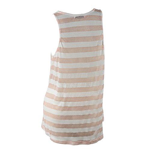 Envo - Camiseta sin mangas - para mujer Pink and White