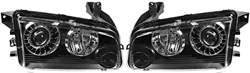 HID Xenon Headlights Headlamps Left & Right Pair Set for 08-10 Dodge (Xenon Dodge Charger)