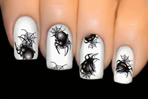 Spiderweb nail art decals thrifty jinxy 3 sheets black spider wicked series nail art stickers water transfer decals prinsesfo Image collections