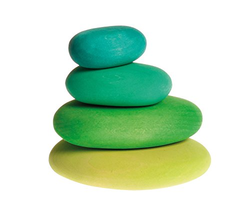 Moss Pebbles Wooden Stacking Stones for Creative Building & Balance Games