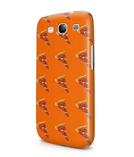 Pizza Slices Fast Food Pattern Plastic Snap-On Case Cover Shell For Samsung Galaxy S3
