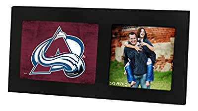 "KH Sports Fan 16""X8"" Colorado Avalanche Colored Logo Black Single NHL Photo Frame"