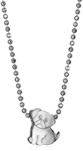Alex Woo Little Animals Sterling Silver Pug Pendant Necklace, 16