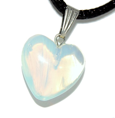 Big Heart Collection - 15mm Classic Opalite Iridescent Clear White - 20