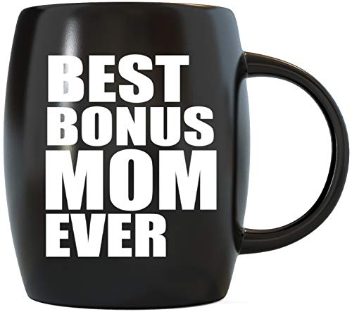 Gift for Bonus Stepmom Step-Mom Gift Idea World's Greatest Stepmother Funny Novelty Step Mom Gag Gifts For Christmas Birthday or Mother's Day Ceramic Coffee Mug Tea Cup for Worlds Okayest Step Mommy (Best Your Momma Joke Ever)