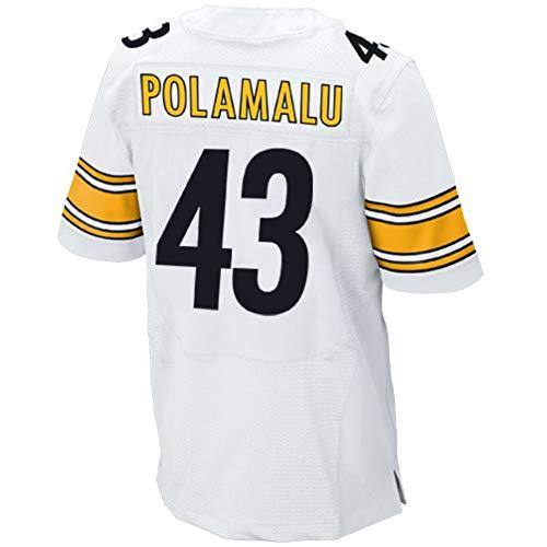 Football_Jersey_Troy_Polamalu_#43_White_for_Men's/Women's/Youth (Troy Polamalu 43 Jersey)