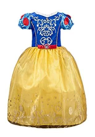 Ninimour Vestido de princesa Blancanieves Disfraces para Halloween Cosplay Costume para Niñas