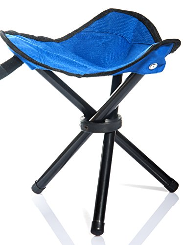Lychee Outdoor Three-Legged Foldable Folding Stool Camping Beach Fishing Chair Garden Seat Small Travelling Stool