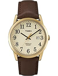 Men's TW2P75800 Easy Reader 38mm Brown/Gold-Tone/Cream Leather Strap Watch