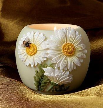 Daisy Votive - Daisy & Bee Votive Ibis & Orchid Design