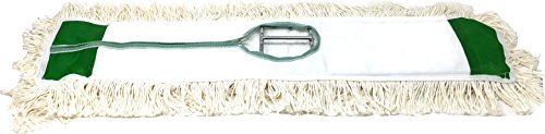 Industrial   Commercial Strength Performance Cotton Dust Mop Broom 24''x5'' Head with Aluminum Handle Quick Change Extension Handle and Frame by Unique Imports (Image #2)