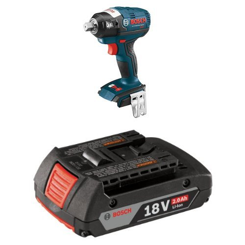 "Bosch IWBH182B Bare-Tool 18V EC Brushless 1/2"" Square Drive Impact Wrench with 2.0 AH battery"