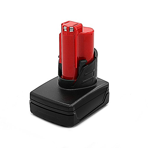 Power-Ing 12V 4000mAh Lithium ion Cordless Tools Replacement Battery for Milwaukee M12 XC REDLITHIUM 48-11-2460 48-11-2411 48-11-2420 48-11-2401 2455-20 48-11-2402 48-11-2440 12 Volt M12 Battery pack by Power-Ing