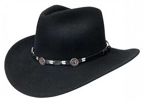 Jack Daniel's Hats Crushable Water Repellent Wool Felt Western Cowboy Hat (Medium) Jack Daniels Cowboy Hats