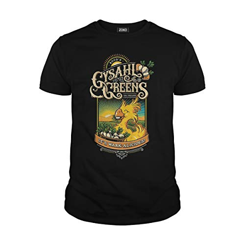 Zoko Apparel Men's Gysahl Greens Chocobo Final Fantasy VII T-Shirt (3XL, -