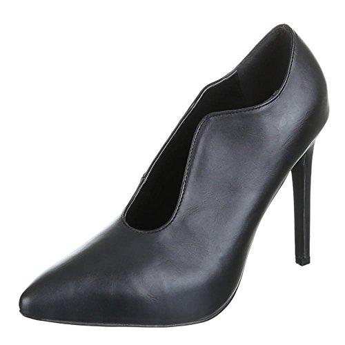 Ital-Design - Zapatos de vestir de Material Sintético para mujer 51 Negro - negro