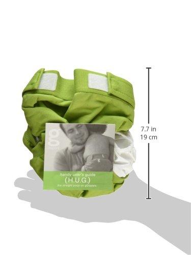 Gnappies Guppy Green gr/ün weiche Baumwolle gPants Windelhose Gro/ße XL