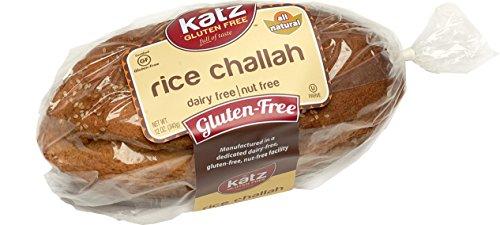 Katz Gluten Free Rice Challah, 12 Ounce, Certified Gluten Free - Kosher - Dairy & Nut free - (Pack of 1) (Gluten Free Rice Bread)