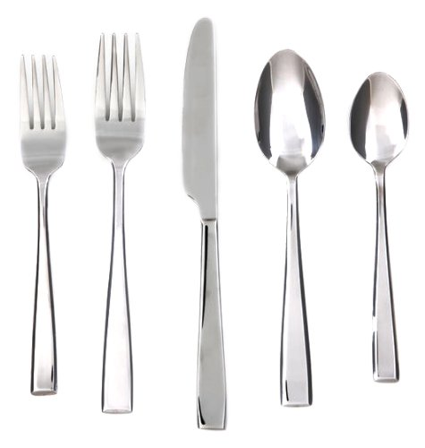 Cambridge Silversmiths Cali Mirror 30-Piece Flatware Silverware Set, Service for 6, Includes Forks/Spoons/Knives